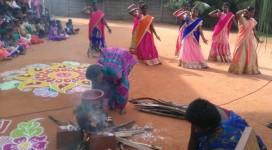 Pongal lait danse Kolam